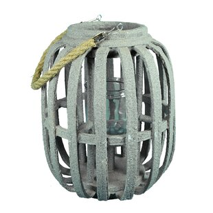 Rope Handle Wood Lantern