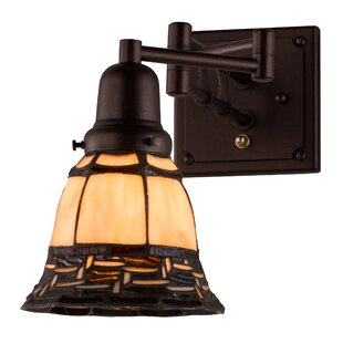 Meyda Tiffany Greenbriar Oak Ilona 1-Light Swing Arm Lamp