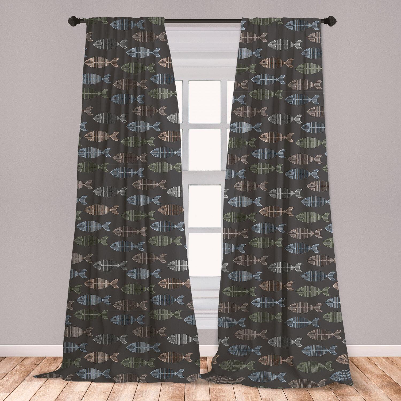 East Urban Home Geometric Room Darkening Rod Pocket Curtain Panels Wayfair