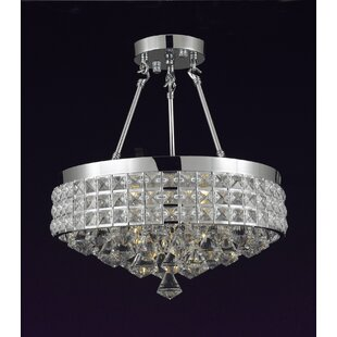 Lapinski 4-Light Semi Flush Mount by Rosdorf Park
