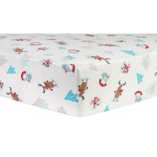 Find Frosty Fun Deluxe Flannel Fitted Crib Sheet ByTrend Lab