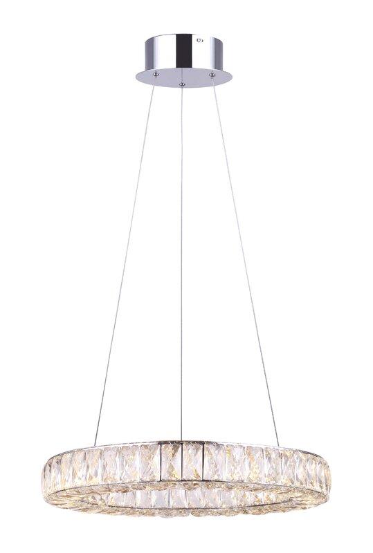 House of Hampton 1 - Light Unique / Statement LED Chandelier