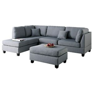 Bibler Reversible Sectional with Ottoman  sc 1 st  AllModern : grey sofa with chaise - Sectionals, Sofas & Couches