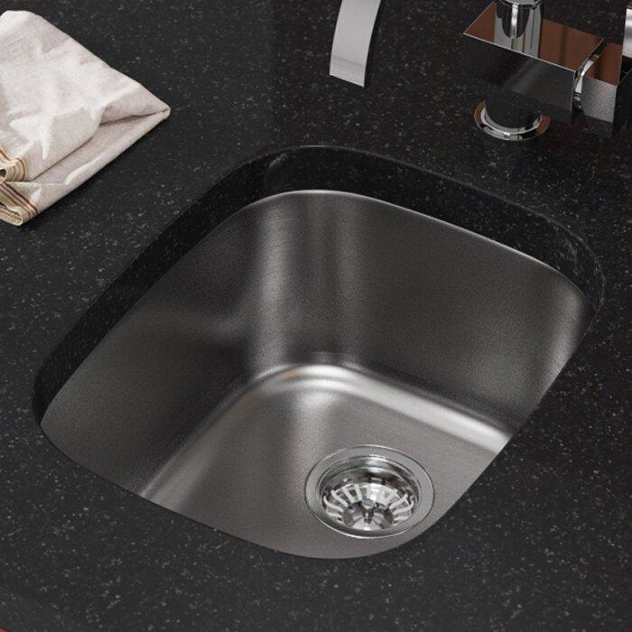 Mrdirect Stainless Steel 18 X 15 Undermount Bar Sink Wayfair
