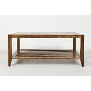 Calvert Transitional Wooden Coffee Table