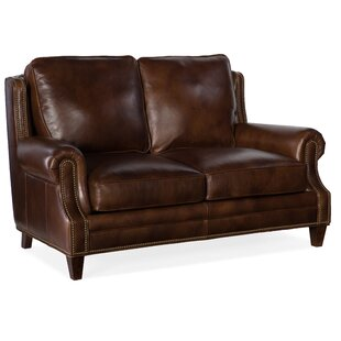 Houck Leather Loveseat by Bradington-Young
