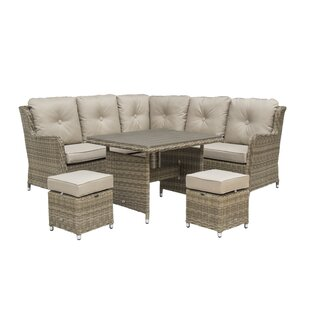Vandeventer Compact 7 Seater Rattan Corner Sofa Set By Sol 72 Outdoor