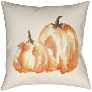 Lodge Cabin Pumpkin Spice Indoor/Outdoor Throw Pillow