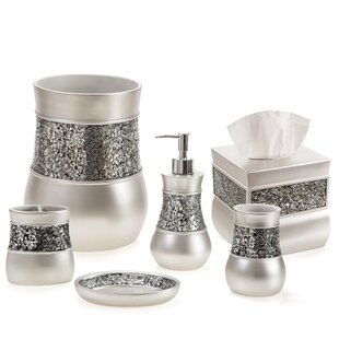 Keira Brushed Nickel 6 Piece Bathroom Accessory Set By Everly Quinn