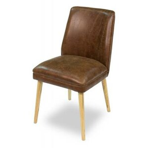 Metro Genuine Leather Upholstered Dining Chair by Sarreid Ltd