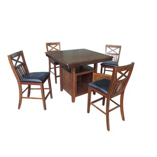 Nathaniel Home 5 Piece Counter Height Dining Set