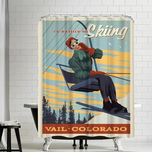 Vail CO Id Rather Be Skiing Single Shower Curtain