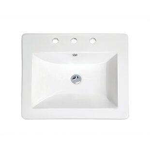 Savings Top Mount Vitreous Chi Overflona Rectangular Drop-In Bathroom Sink By Soleil