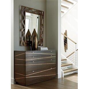 Zavala 4 Drawer Dresser with Mirror By Lexington