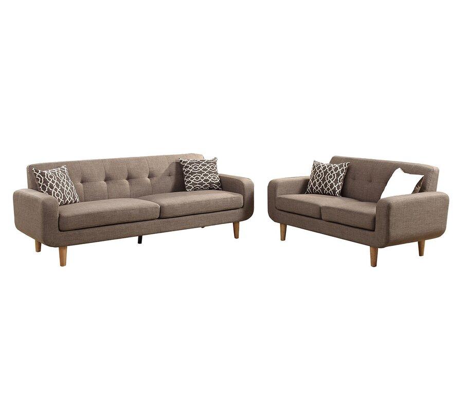 George Oliver Venters Dorris Fabric 2 Piece Living Room Set ...