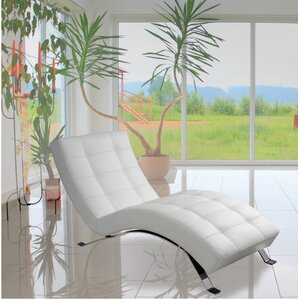 avalon top grain leather chaise lounge