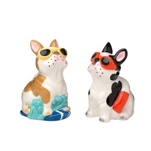 Tad Ceramic 2 Piece Salt and Pepper Set