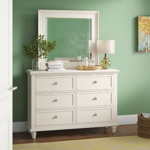 Rae 6 Drawer Double Dresser with Mirror