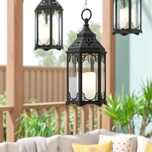 Find Snehal Battery-Operated 1-Light LED Outdoor Hanging Lantern By Bloomsbury Market