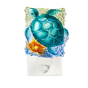Cypress Home Turtle Crushed Glass Night Light