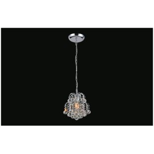 Blossom 1-Light Crystal Pendant by CWI Lighting