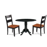 Horan 3 Piece Drop Leaf Solid Wood Dining Set by August Grove®