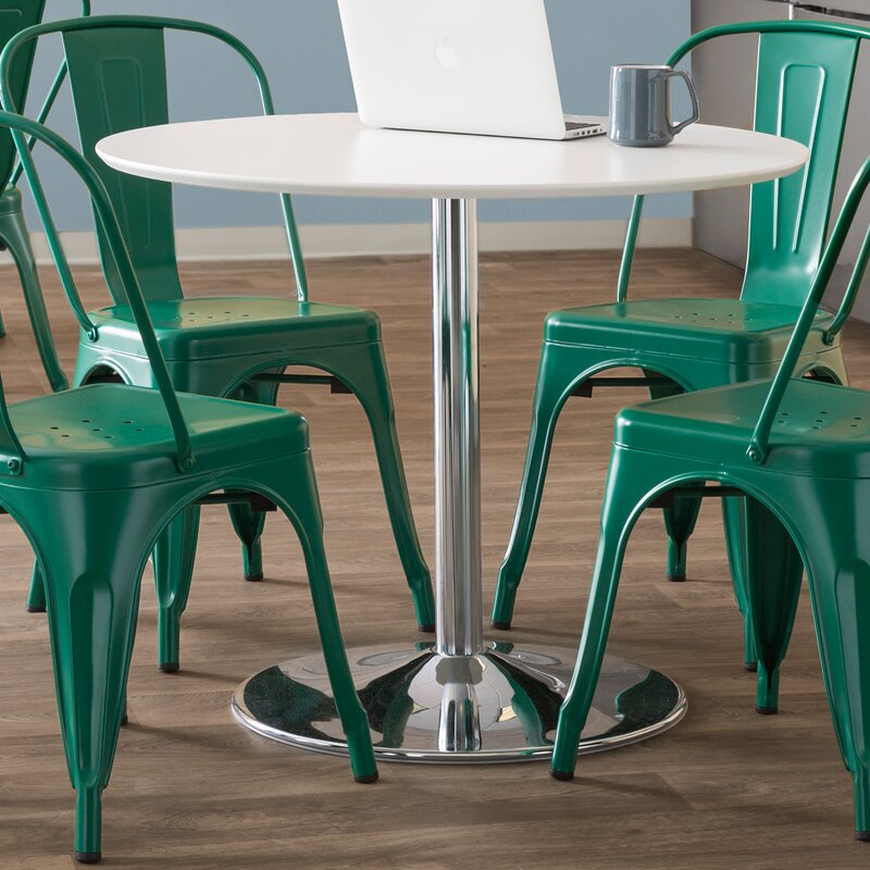 f2acec593ed71 Zipcode Design Ember Metal Base Dining Table   Reviews