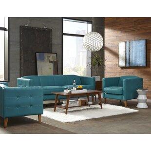 Lazzaro Leather Miami Configurable Living Room Set