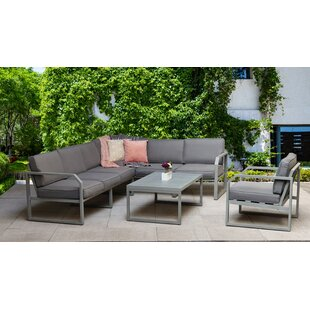 Corrales Garden Corner Sofa With Cushion By Mercury Row