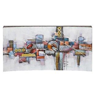 large abstract wall paintings wayfair
