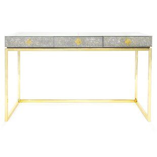 Delphine Glass Writing Desk