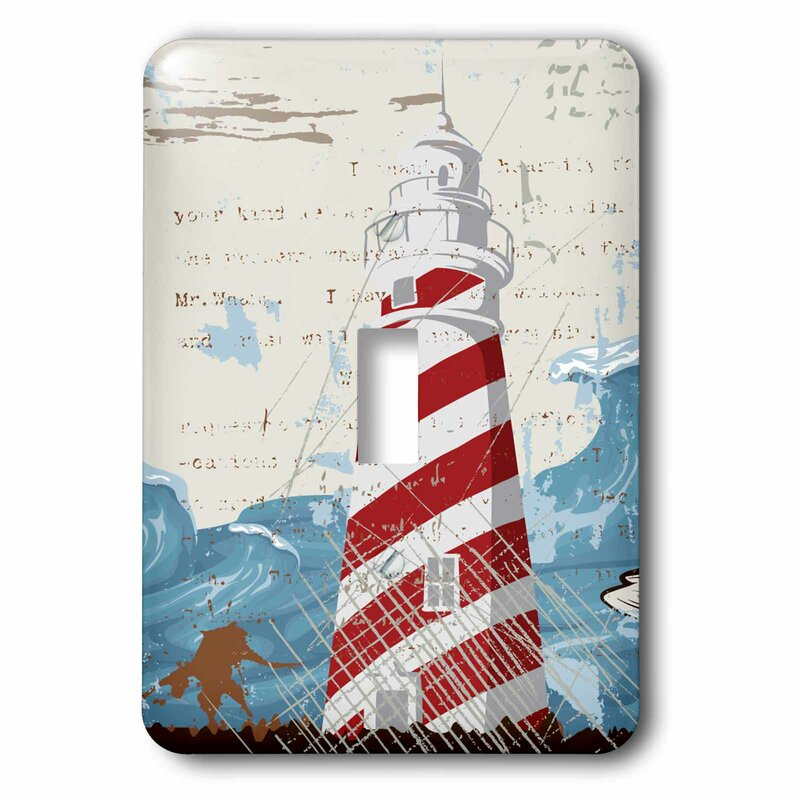 3drose Lighthouse With Sea Wave 1 Gang Toggle Light Switch Wall Plate Wayfair