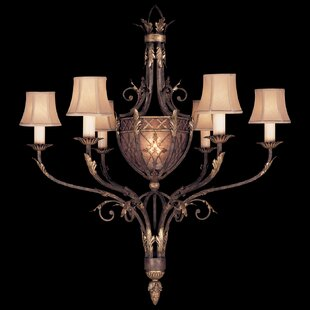 Fine Art Lamps Villa 1919 6-Light Shaded Chandelier