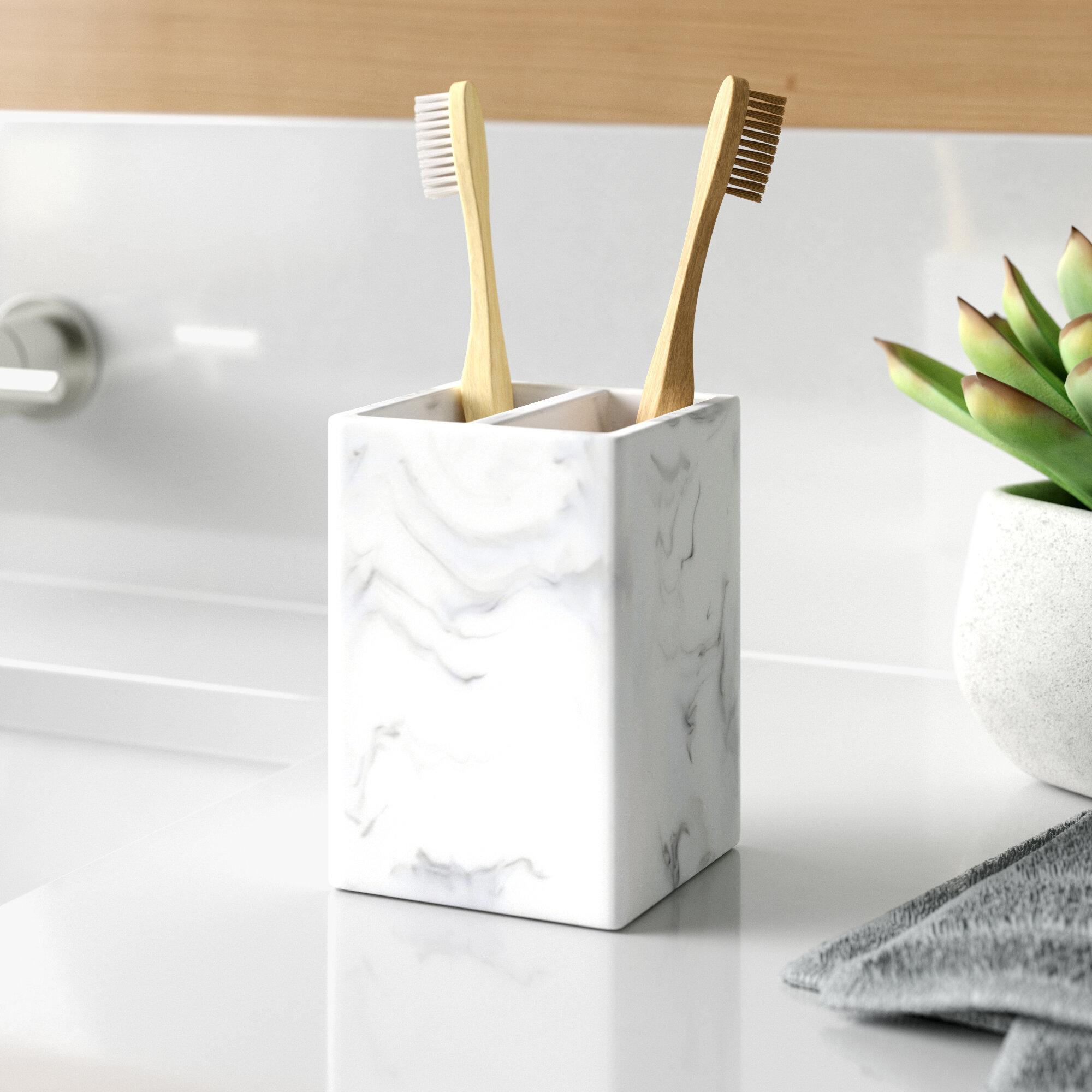 Dotted Line Funke Poly Resin Toothbrush Holder Reviews Wayfair