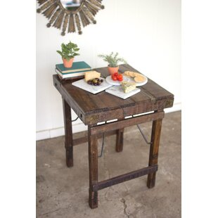Jaiden Recycled Wooden Side End Table