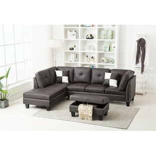 Bush Sectional With Ottoman Ebern Designs