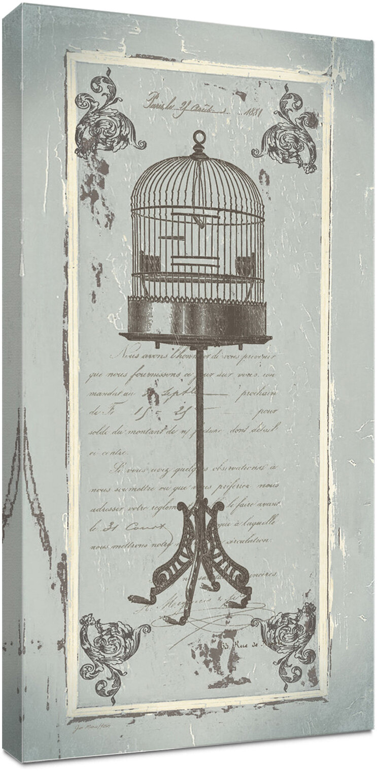 Ophelia Co French Birdcage Graphic Art Print On Canvas Reviews Wayfair