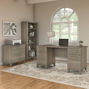 Kirchoff Desk 3 Pieces  Set by Ebern Designs
