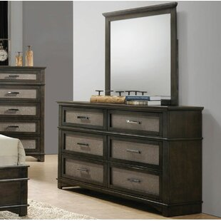 Charlton Home Gino 6 Drawer Double Dresser w..