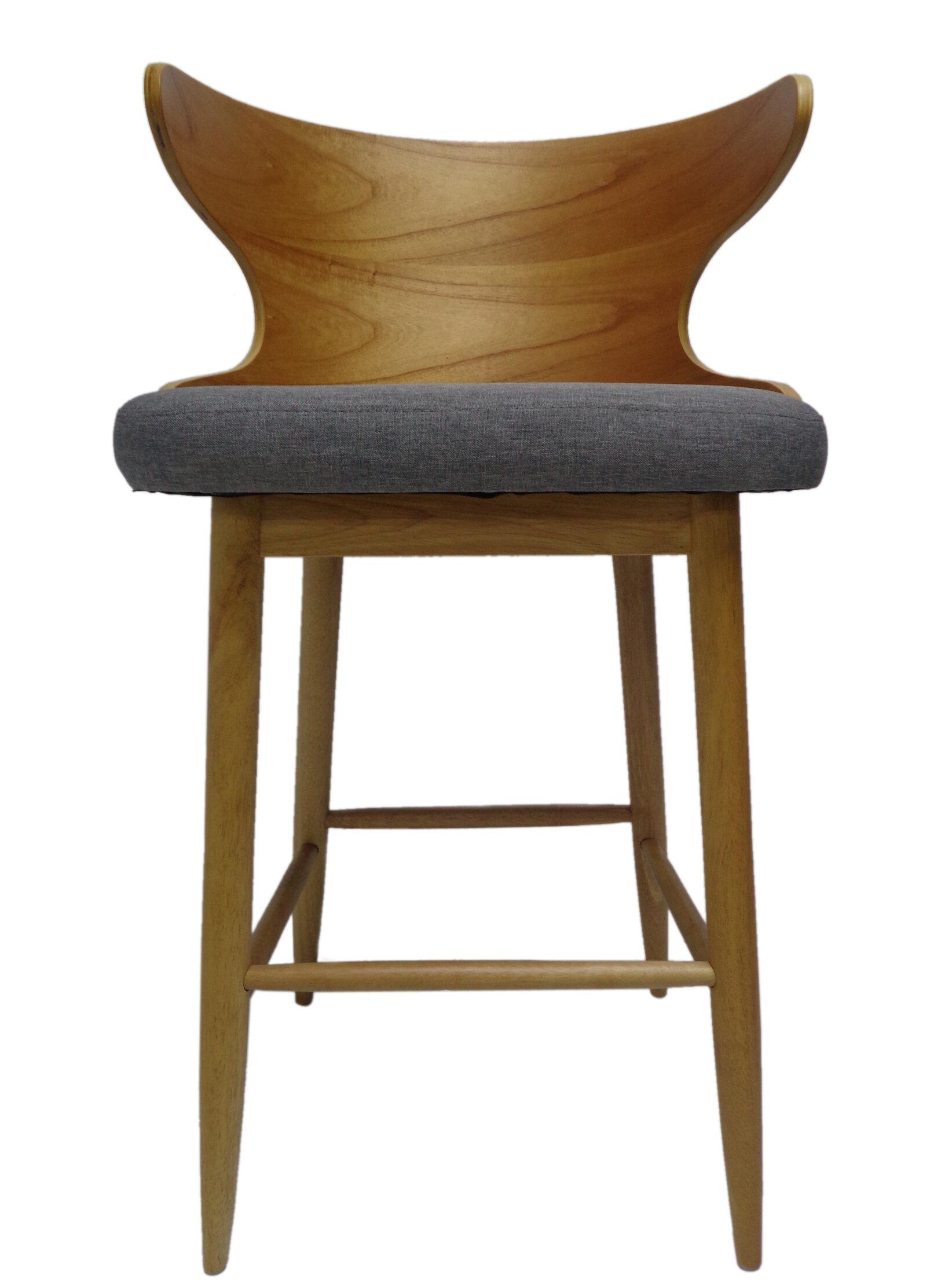 Excellent Overturf Mid Century Modern 30 Bar Stool Squirreltailoven Fun Painted Chair Ideas Images Squirreltailovenorg