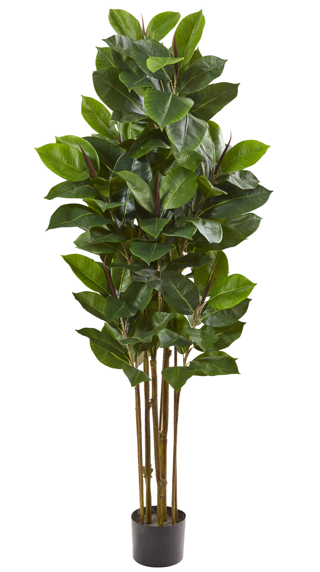 Primrue Artificial Rubber Leaf Tree In Pot Liner Reviews Wayfair