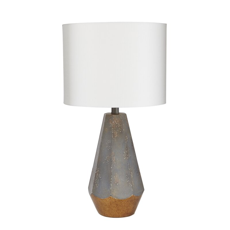 "Rampal Rustic Prism 25"" Table Lamp with Accent"