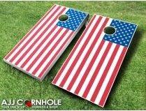 AJJ Cornhole 10 Piece United States Flag Cornhole Set