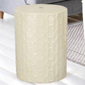 Modern Drum Ceramic Garden Stool