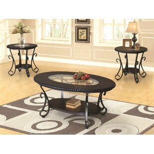 Fleur De Lis Living Cragin 3 Piece Coffee Table Set