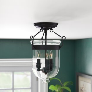 Darby Home Co Lauder 3-Light Semi Flush Mount