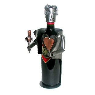 Hearts & Flowers-Male 1 Bottle Tabletop W..