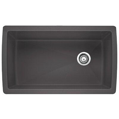 Blanco Diamond 33.5 L x 18.5 W Undermount Kitchen Sink Color: Cinder