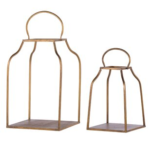 King 2 Piece Metal Lantern Set by Williston Forge