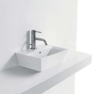 Price Check Jas Ceramic Rectangular Vessel Bathroom Sink with Overflow ByWS Bath Collections